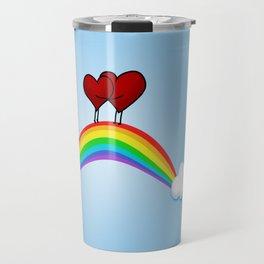 Love on rainbow Travel Mug
