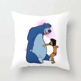 No Power , Baloo and Mowgli Throw Pillow