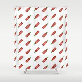 Sriracha Pattern Shower Curtain