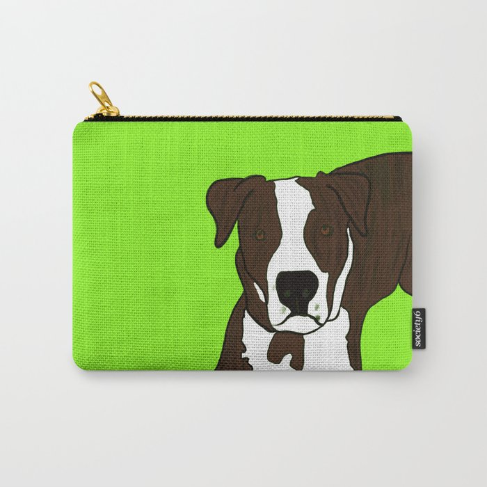 Chico the Brindled Pit Bull Carry-All Pouch