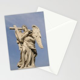 Bernini's angel with cross Stationery Cards