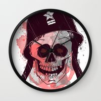 soldier Wall Clocks featuring Soldier  by Jelot Wisang