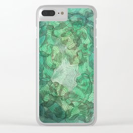 Green Blobs Clear iPhone Case