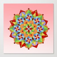 manchester Canvas Prints featuring Manchester Mandala  by Patricia Shea Designs