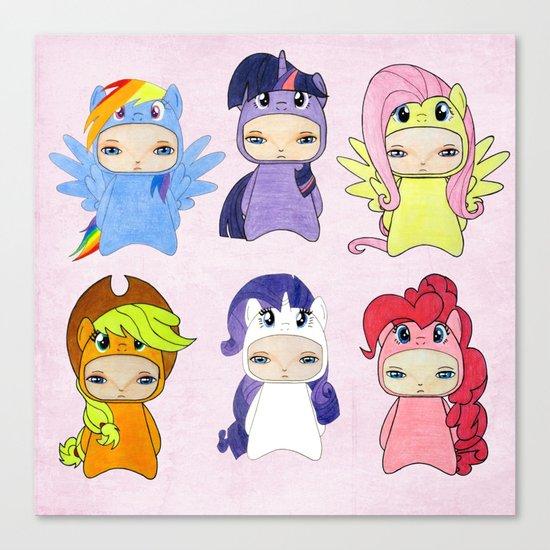 A Boy - Little Pony Canvas Print