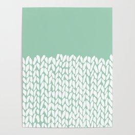 Half Knit Mint Poster