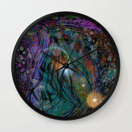 BLACK SEA OF SPACE Wall Clock