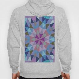 Retro Geometry Mandala Lavender Blue Hoody