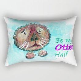 Be my otter half Rectangular Pillow