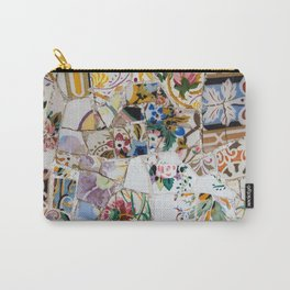 Mosaic Colored Ceramic Tile Pattern Carry-All Pouch