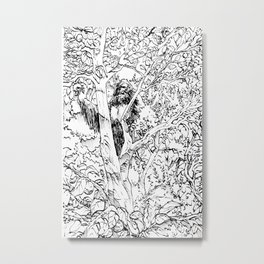 Sasquatch picking apples Metal Print