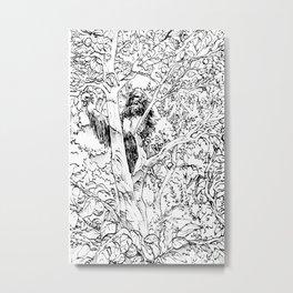 Sasquatch picking apples Metal Print