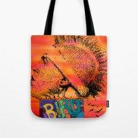 birdman Tote Bags featuring Birdman by Jen Hynds