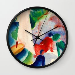 August Macke - Picnic On The Beach - Digital Remastered Edition Wall Clock