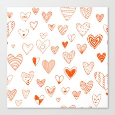 fun hearts Canvas Print
