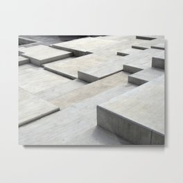 concrete geometry - modernist abstract 5 Metal Print