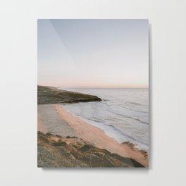 Surfers paradise | Ericeira Portugal beach photography print | Pastel wanderlust ocean vibes Metal Print