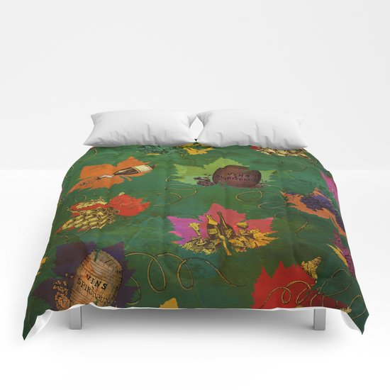 Autumn Grapes and Wine Comforters