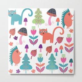 Animals pattern 4F Metal Print