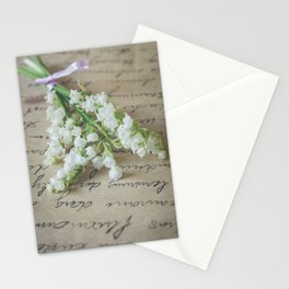 Love letter with lily of the valley Stationery Cards