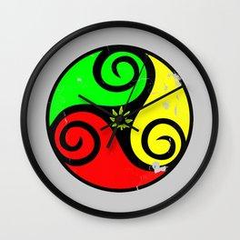 Reggae Love Vibes - Cool Weed Pot Reggae Rasta Wall Clock