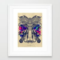 phoenix Framed Art Prints featuring PHOENIX by Galvanise The Dog