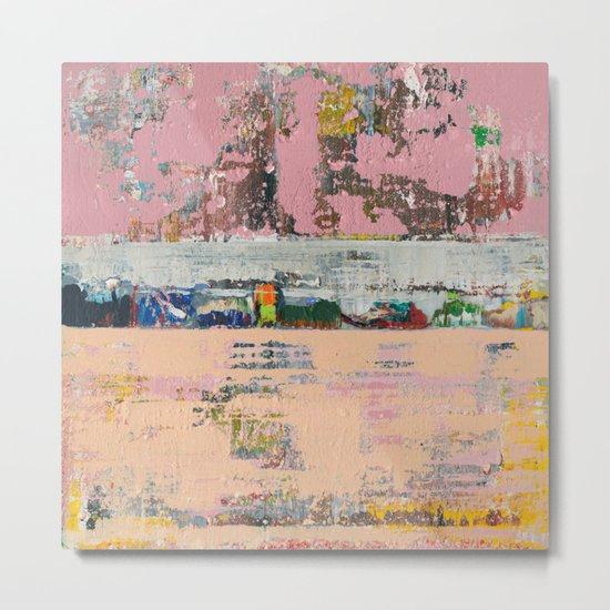 Dogbane Pink Abstract Painting Print Metal Print