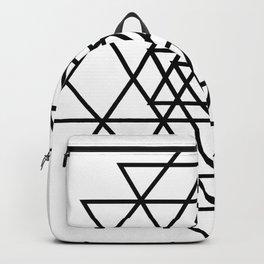 Shri Yantra Black & White Backpack