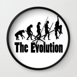 Skateboard - the Evolution Wall Clock
