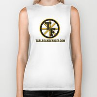 boston Biker Tanks featuring Boston by Tables and Fables
