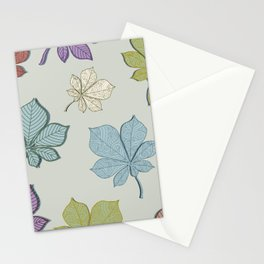 Flying leaves Stationery Cards
