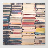 books Canvas Prints featuring Books  by Caroline Mint