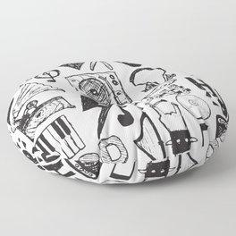 Music Doodles Floor Pillow
