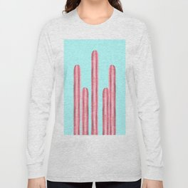 Garden of cacti and blue Long Sleeve T-shirt