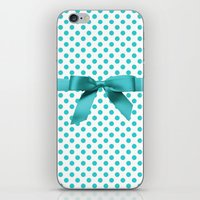 polkadot iPhone & iPod Skins featuring Blue Tiffany Polkadot by albert Junior