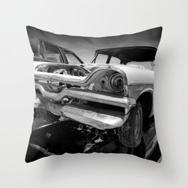 1957 Coronet wreck Throw Pillow