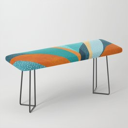 Abstract Tropical Foliage Bench