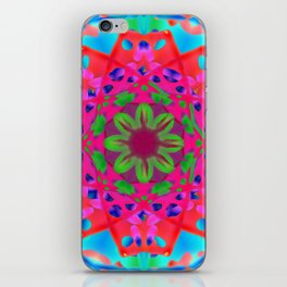 Abstract Flower ZZ WWW AA iPhone Skin