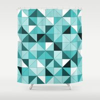 teal Shower Curtains featuring teal  by Hannah
