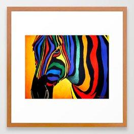 Cavallo Di Colore Framed Art Print