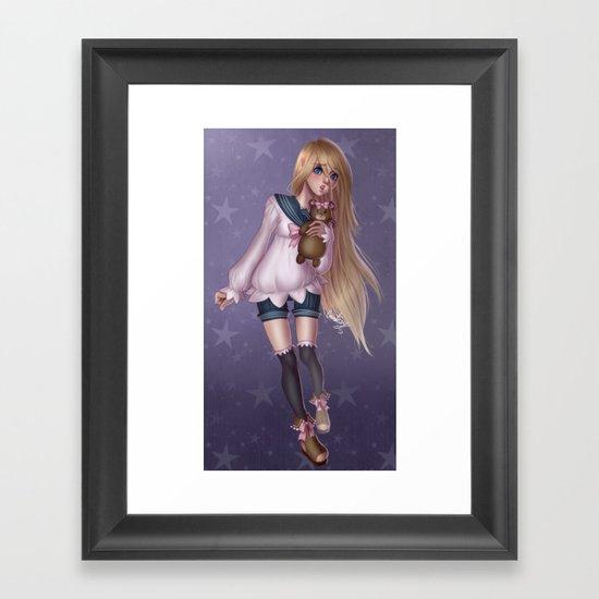 Teddy Girl Framed Art Print