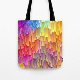 Vibrant Rainbow Cascade Design Tote Bag