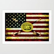 US CAVALREY - 020 Art Print