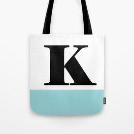 Monogram Letter K-Pantone-Limpet Shell Tote Bag