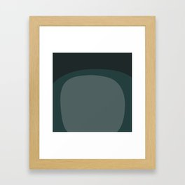 Miracle Rock in Teal _Block Colour Framed Art Print