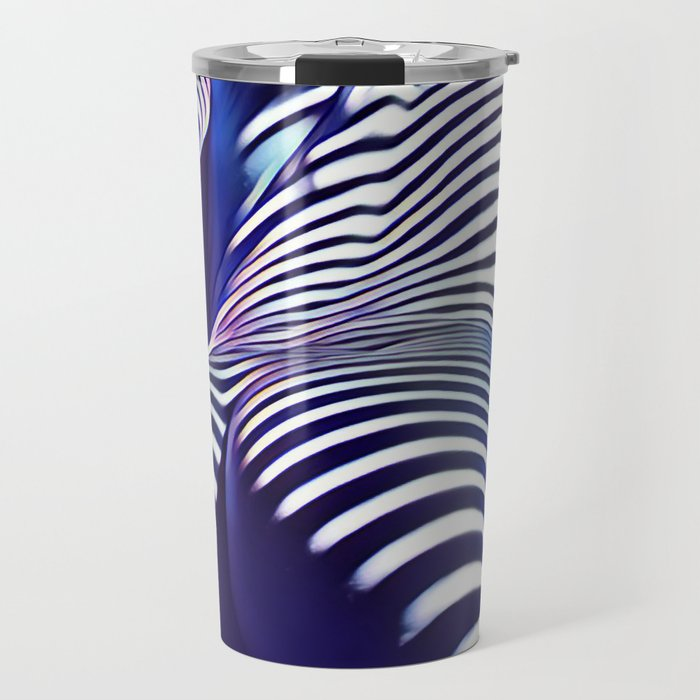 2020s-AK Sensual Blue Striped Woman from Behind Travel Mug