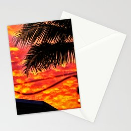 Sunset on the deck Stationery Cards