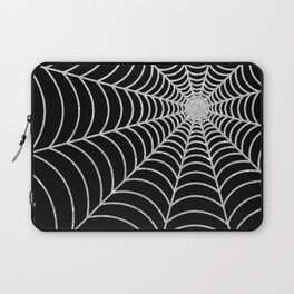 Spiderweb | Silver Glitter Laptop Sleeve