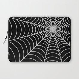 Spiderweb   Silver Glitter Laptop Sleeve