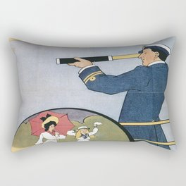 Vintage poster - Coast Line Rail Motor Services Rectangular Pillow